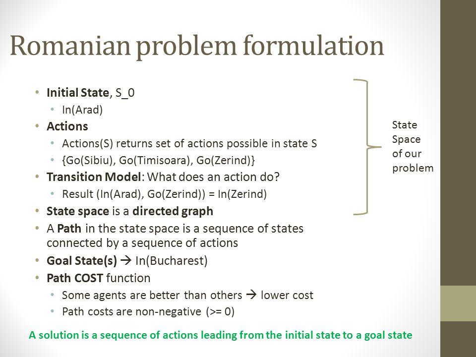Romanian problem formulation