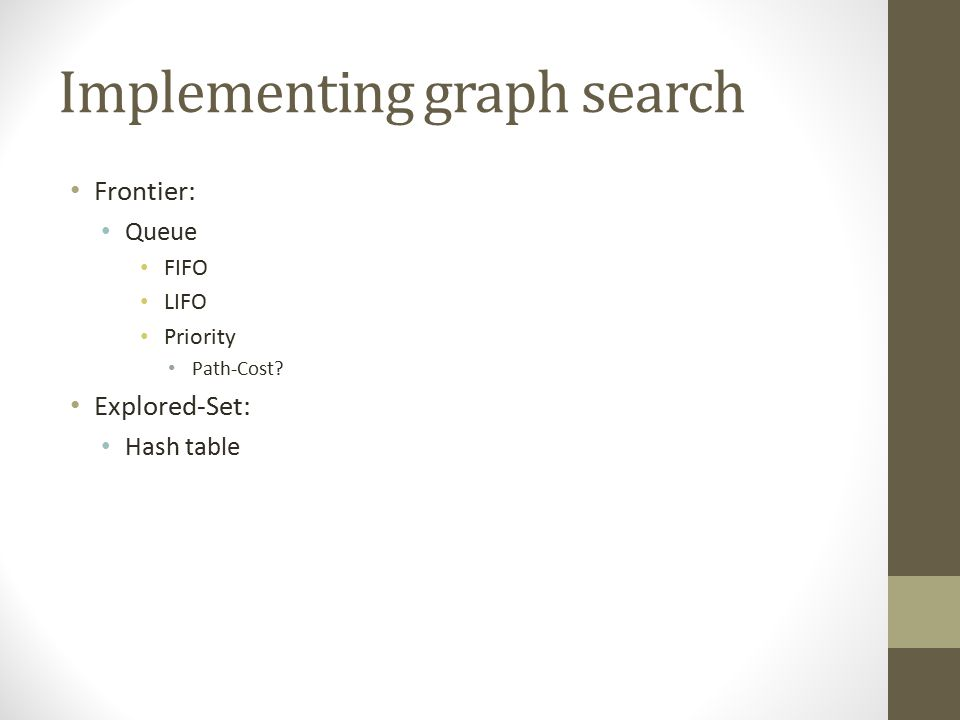 Implementing graph search