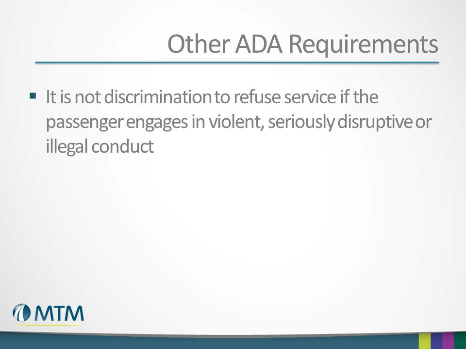 Other ADA Requirements