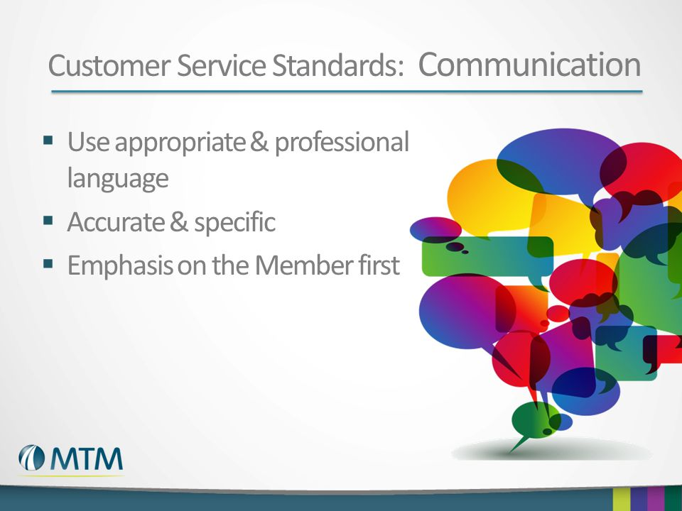 Customer Service Standards: Communication
