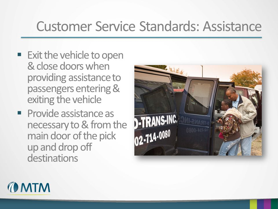 Customer Service Standards: Assistance