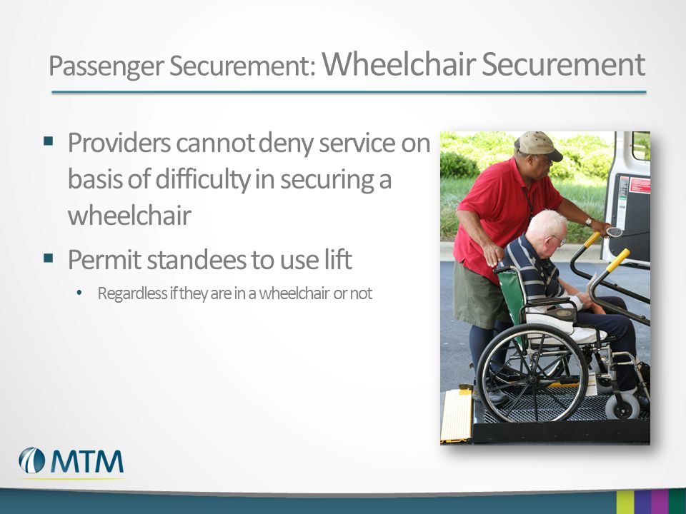 Passenger Securement: Wheelchair Securement