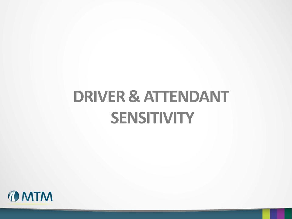 Driver & attendant Sensitivity
