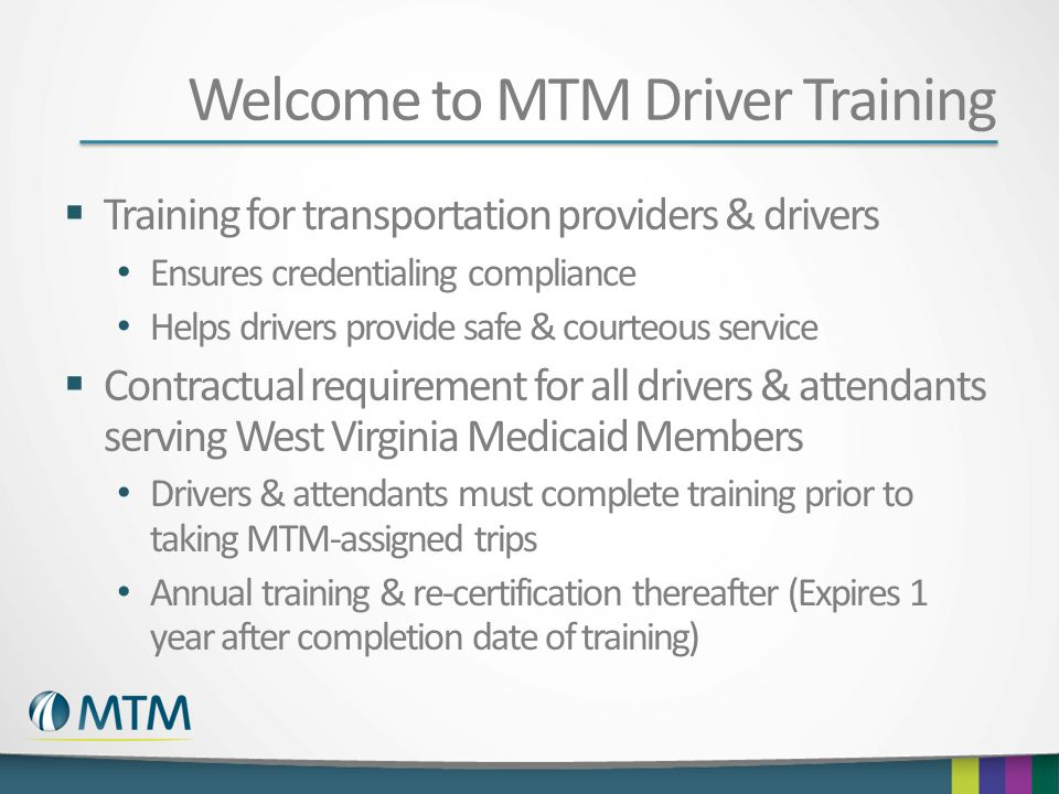 Welcome to MTM Driver Training