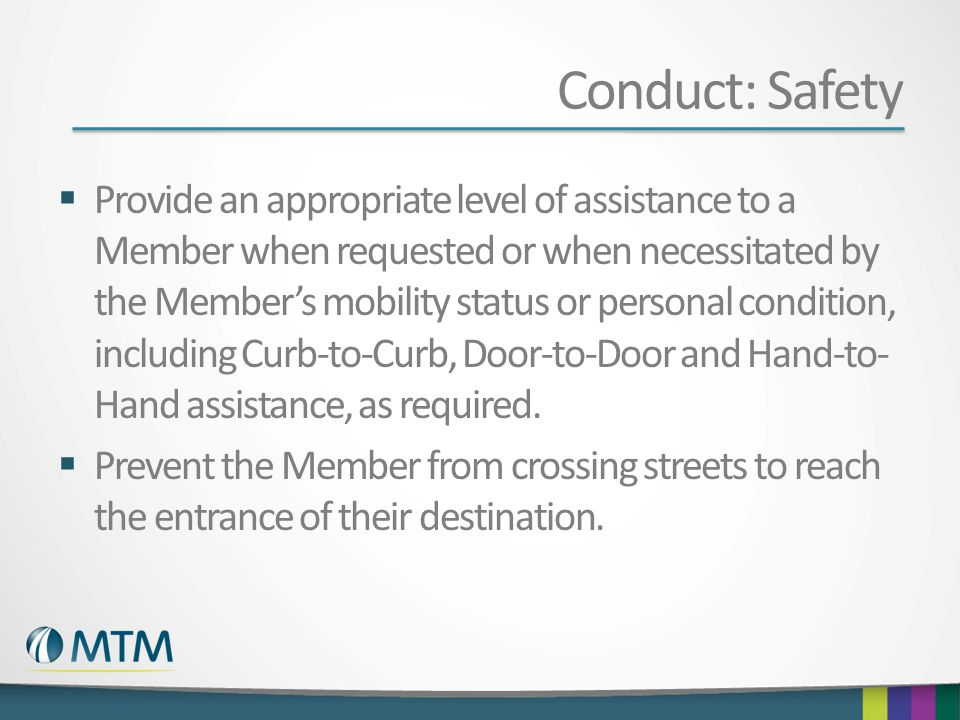 Conduct: Safety