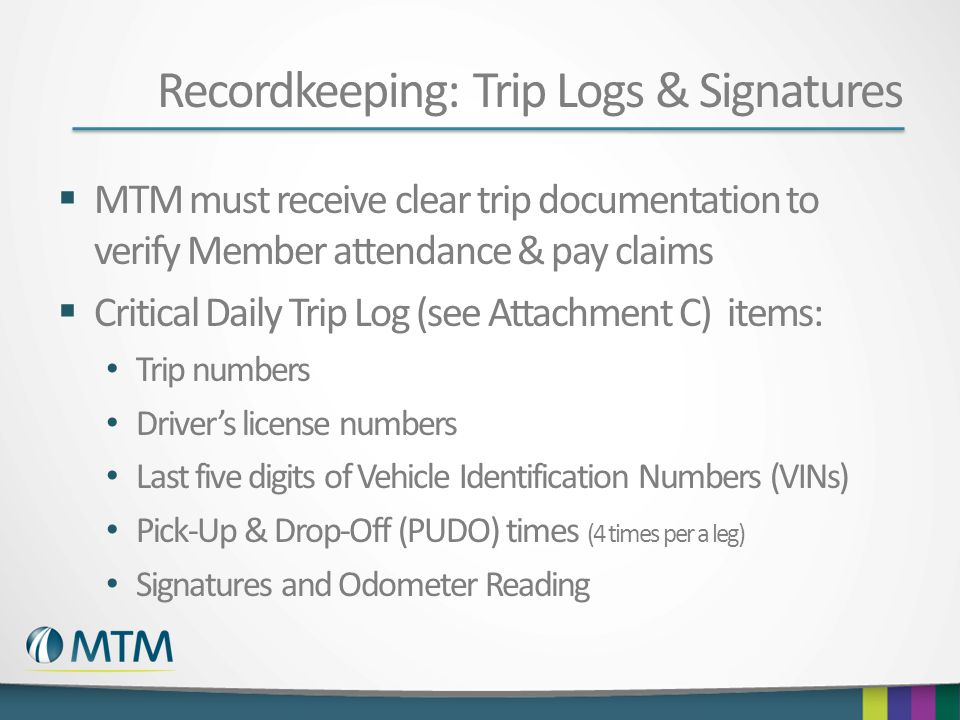 Recordkeeping: Trip Logs & Signatures