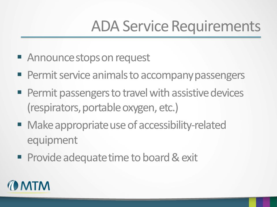 ADA Service Requirements