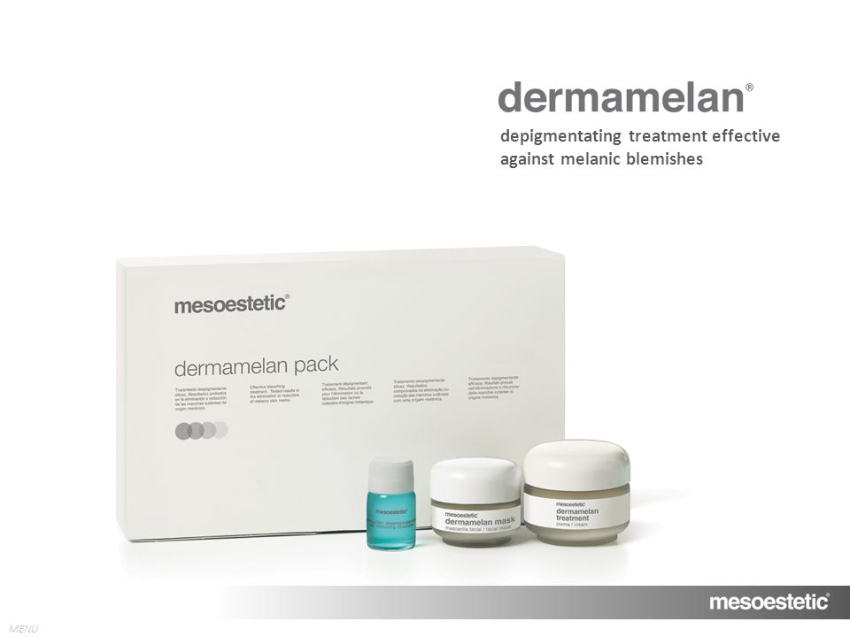 depigmentating treatment effective against melanic blemishes
