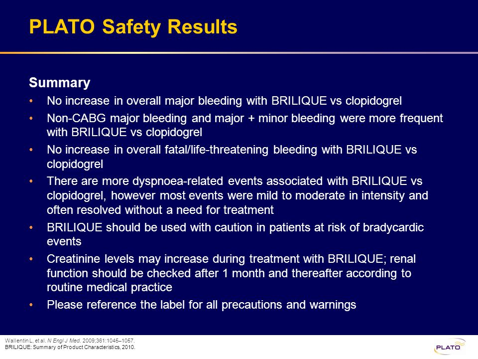 PLATO Safety Results Summary