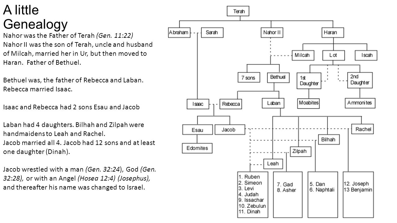 A little Genealogy Nahor was the Father of Terah (Gen. 11:22)
