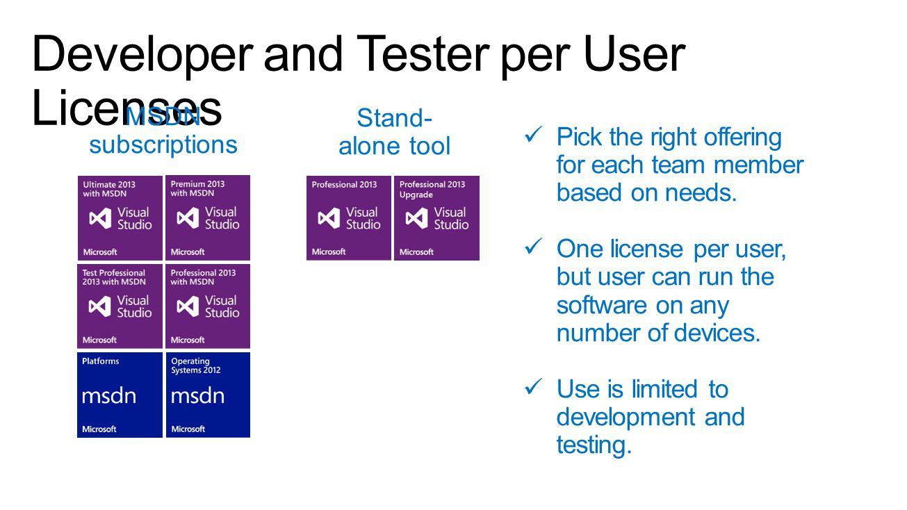 Developer and Tester per User Licenses