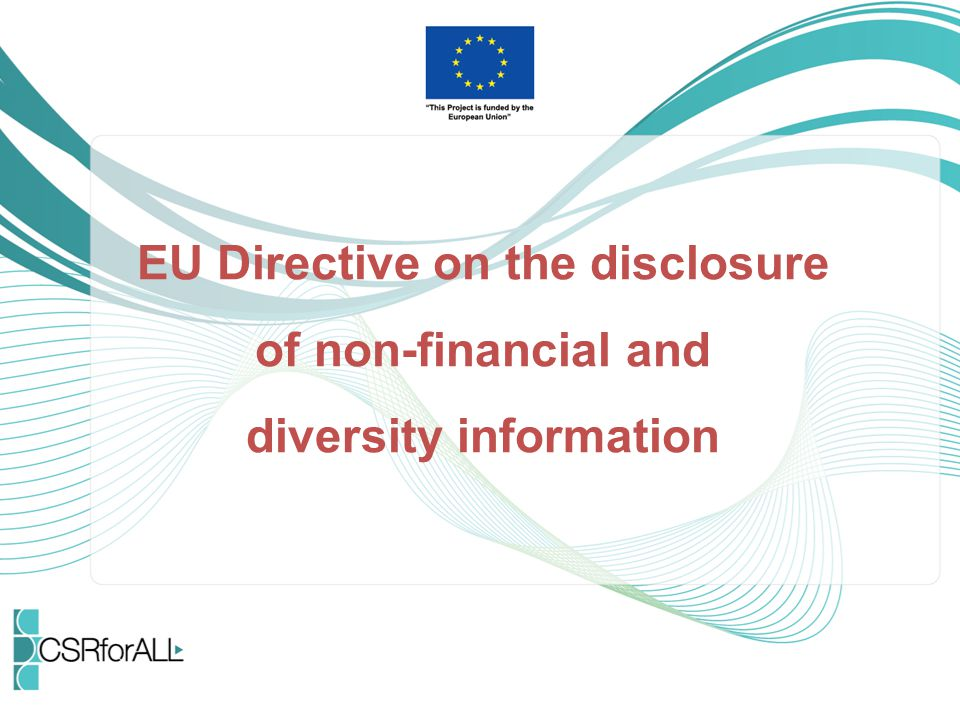 EU Directive on the disclosure of non-financial and diversity information