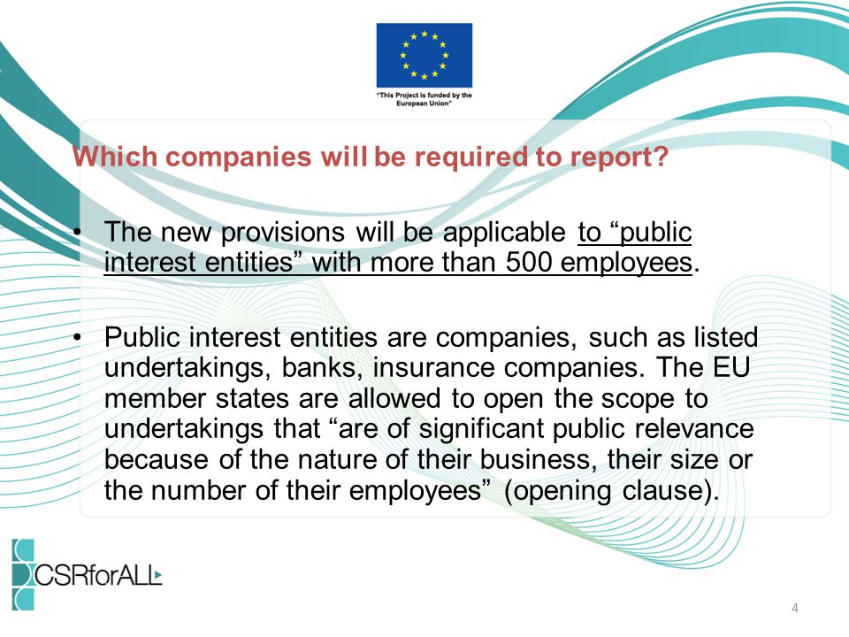 Which companies will be required to report
