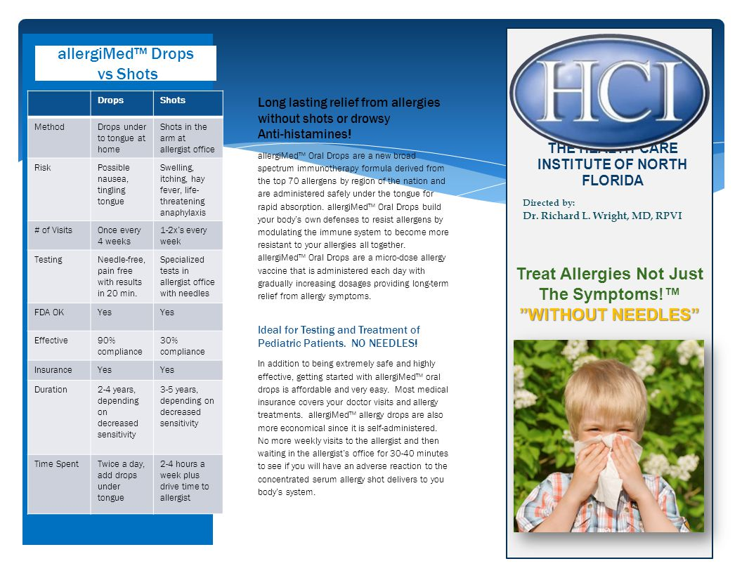 Treat Allergies Not Just The Symptoms!™ WITHOUT NEEDLES