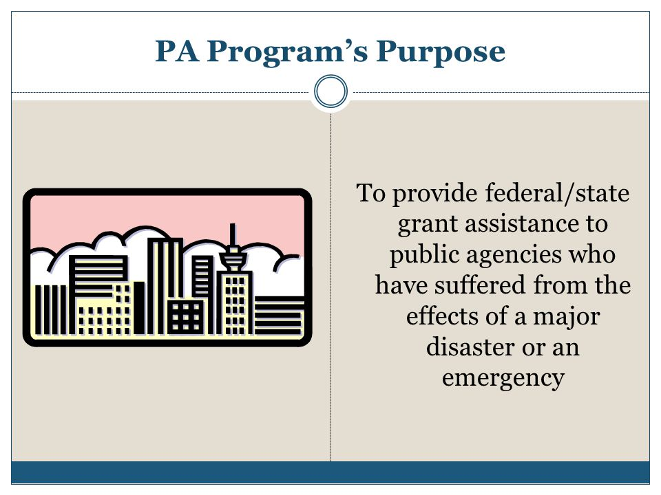 PA Program's Purpose