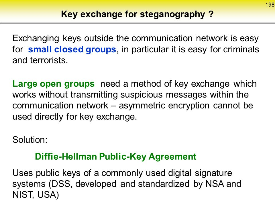 Key exchange for steganography