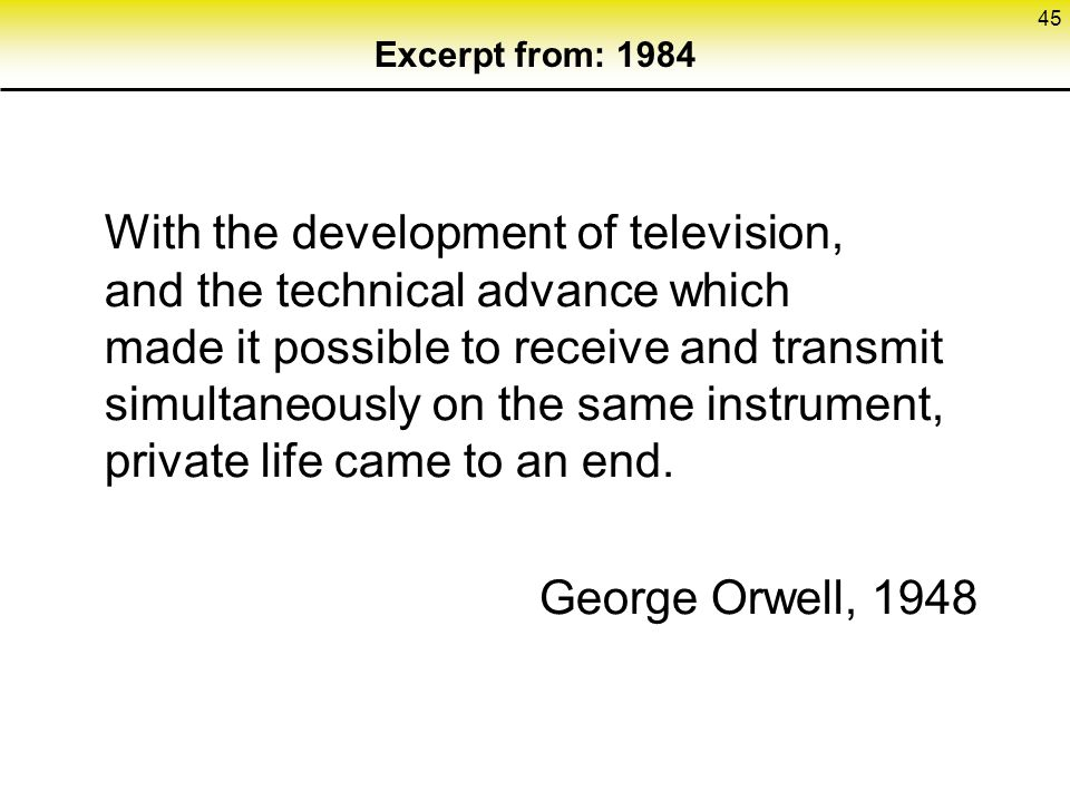 Excerpt from: 1984