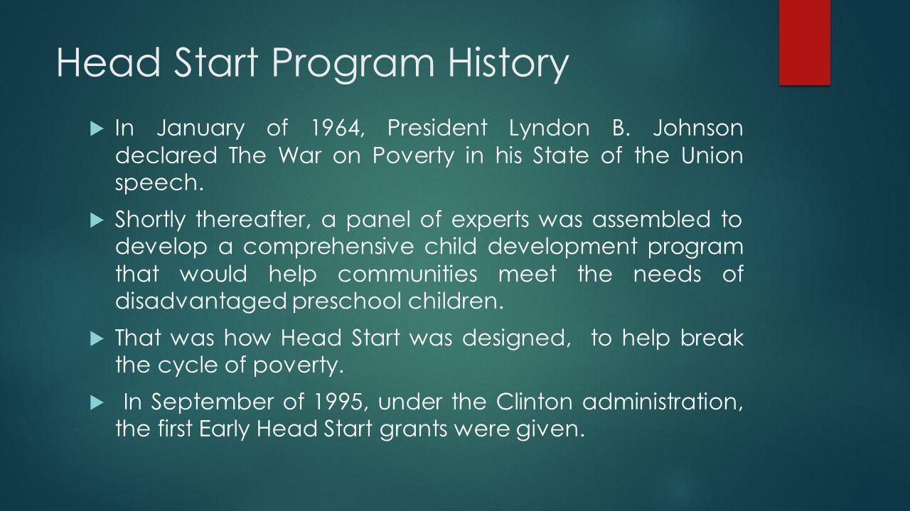 Head Start Program History