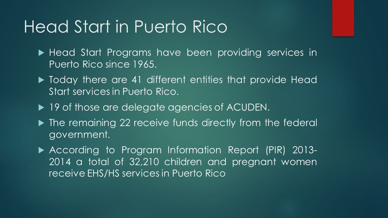 Head Start in Puerto Rico