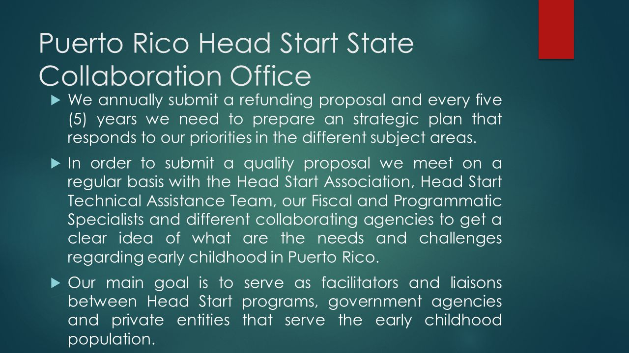 Puerto Rico Head Start State Collaboration Office
