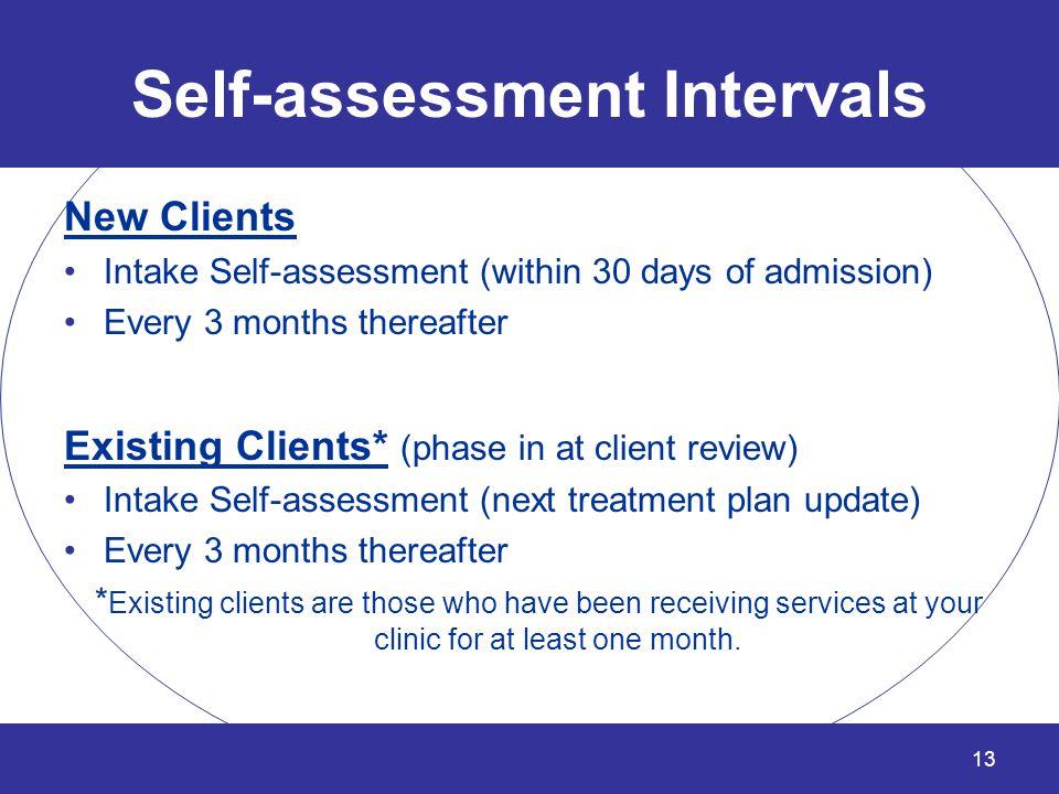 Self-assessment Intervals