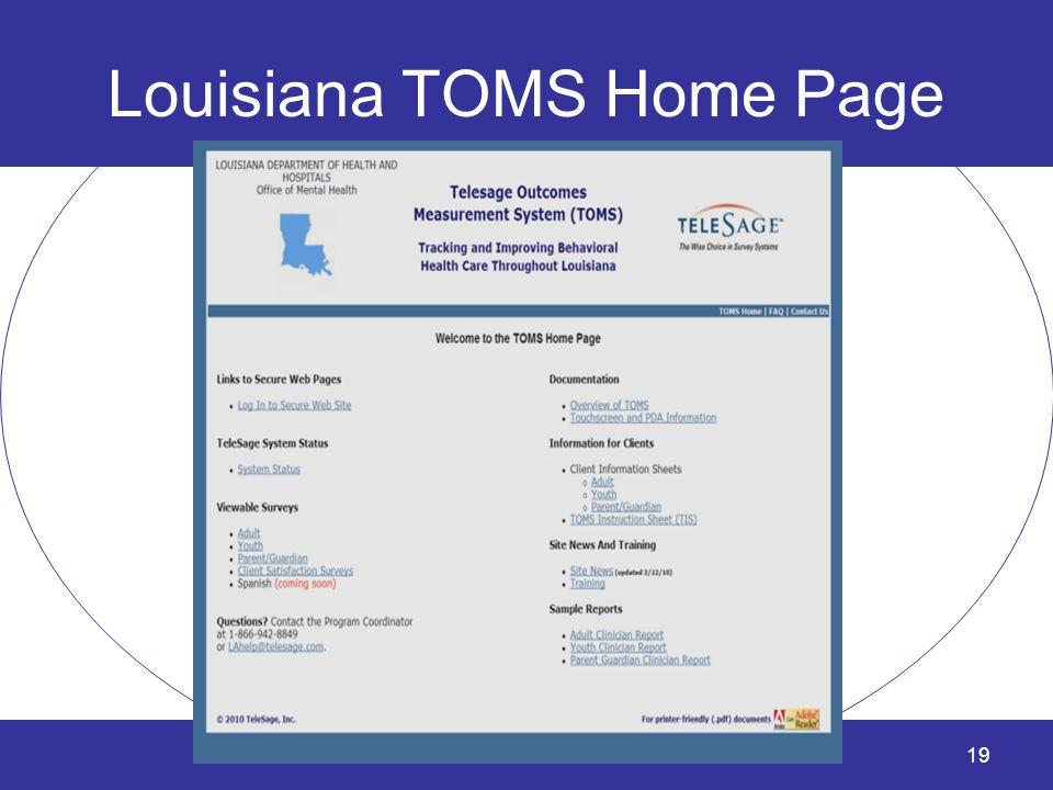 Louisiana TOMS Home Page