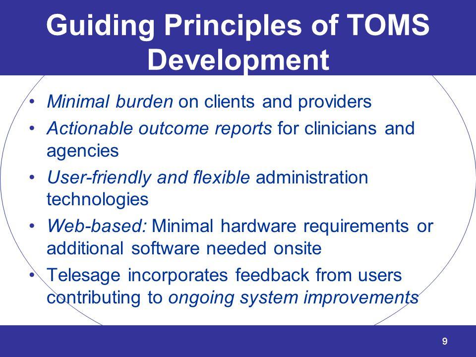 Guiding Principles of TOMS Development