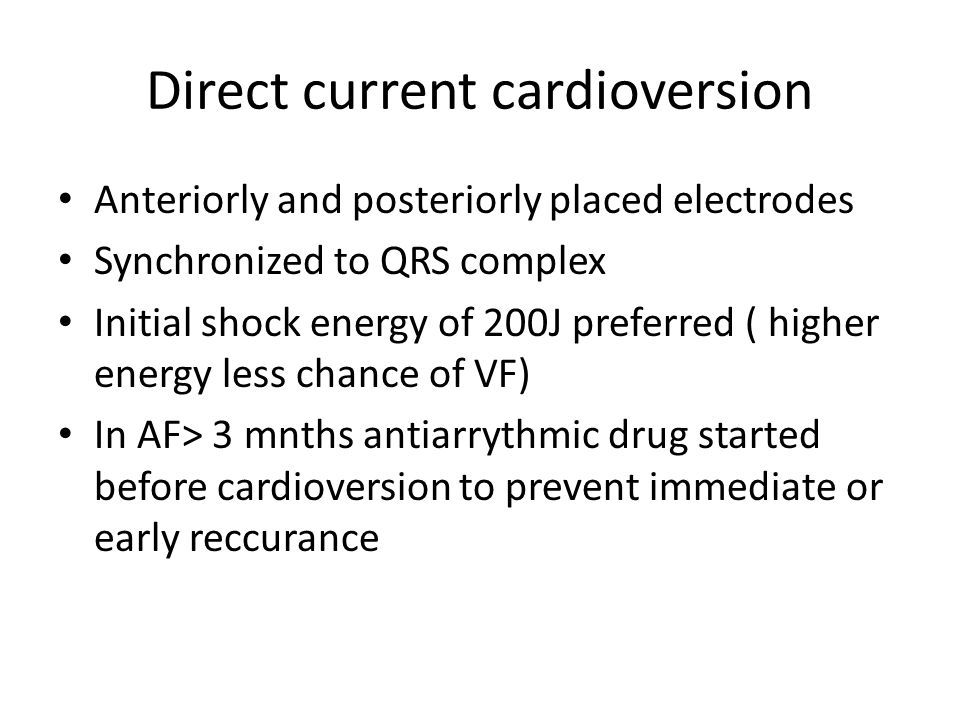 Direct current cardioversion