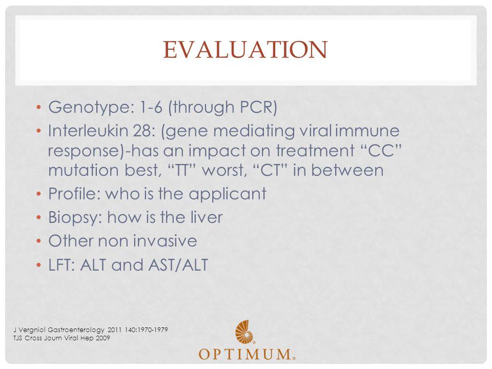 Evaluation Genotype: 1-6 (through PCR)