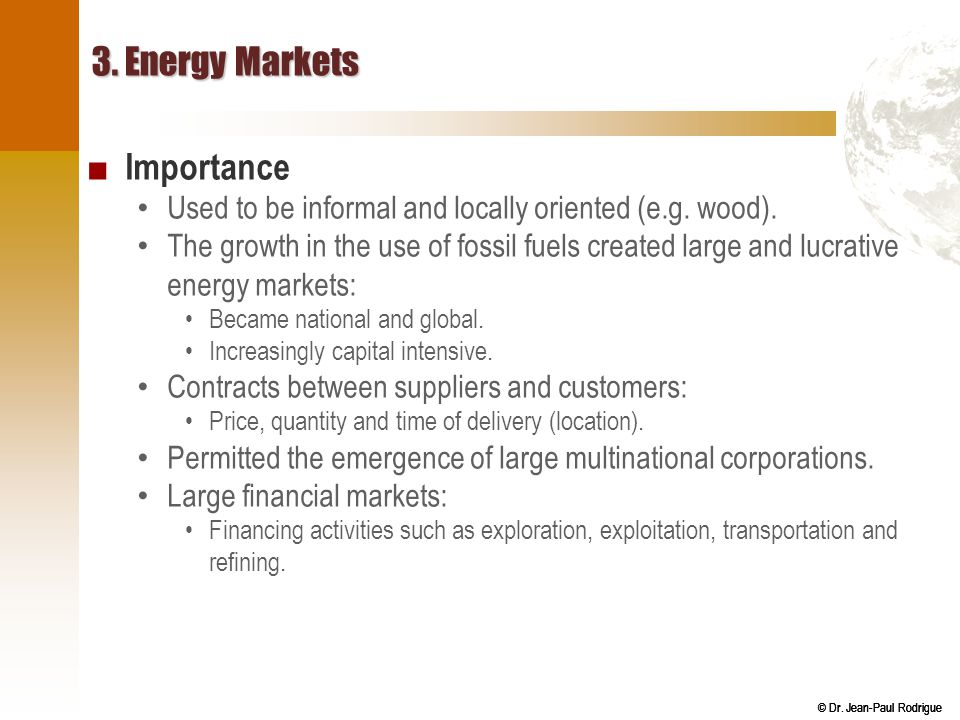 3. Energy Markets Importance