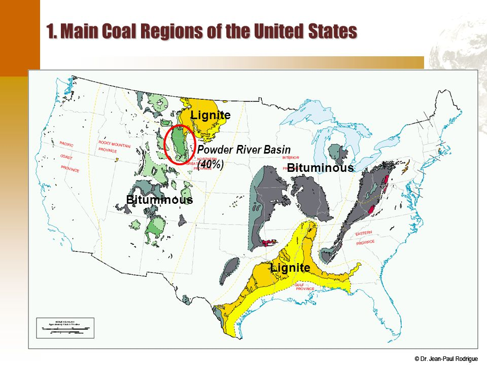 1. Main Coal Regions of the United States