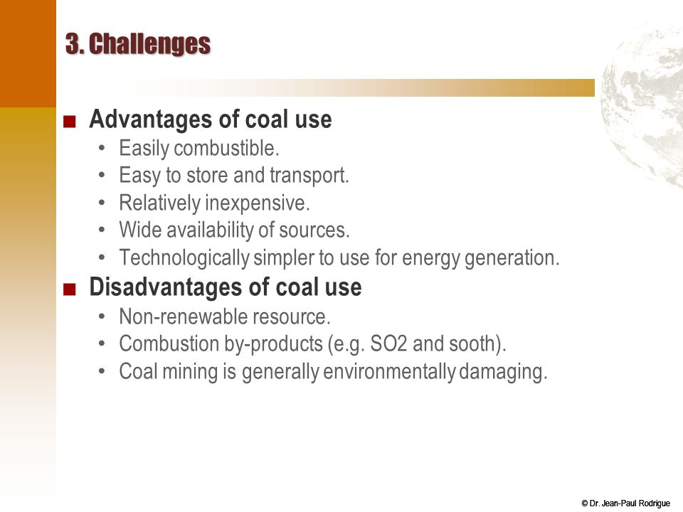 Disadvantages of coal use
