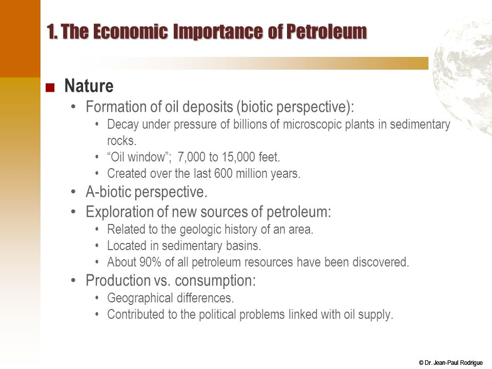 1. The Economic Importance of Petroleum