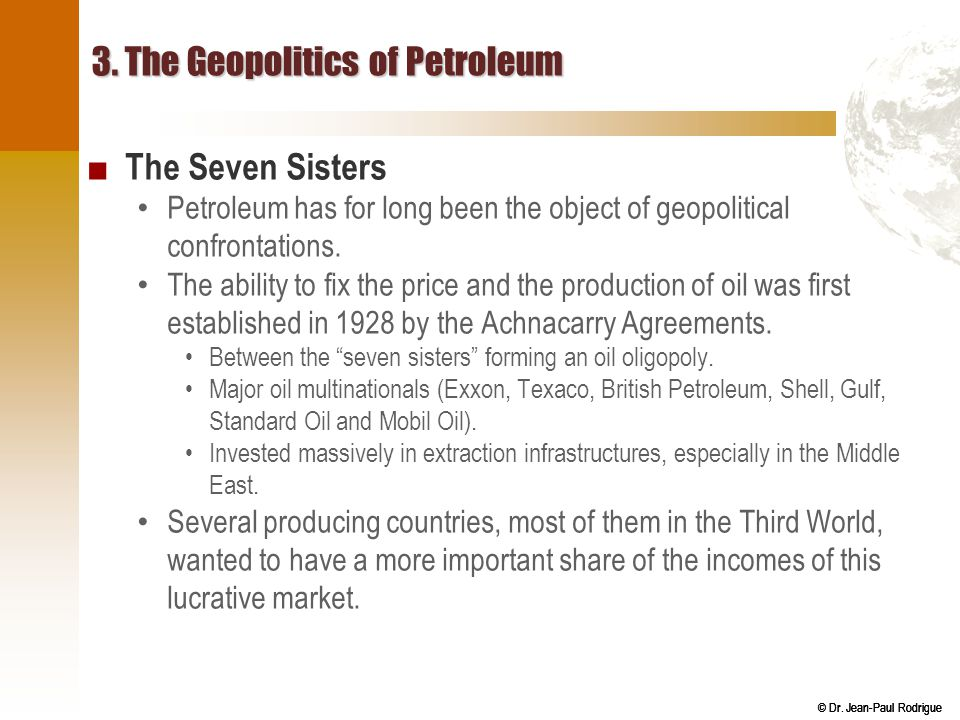 3. The Geopolitics of Petroleum