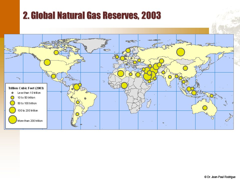 2. Global Natural Gas Reserves, 2003