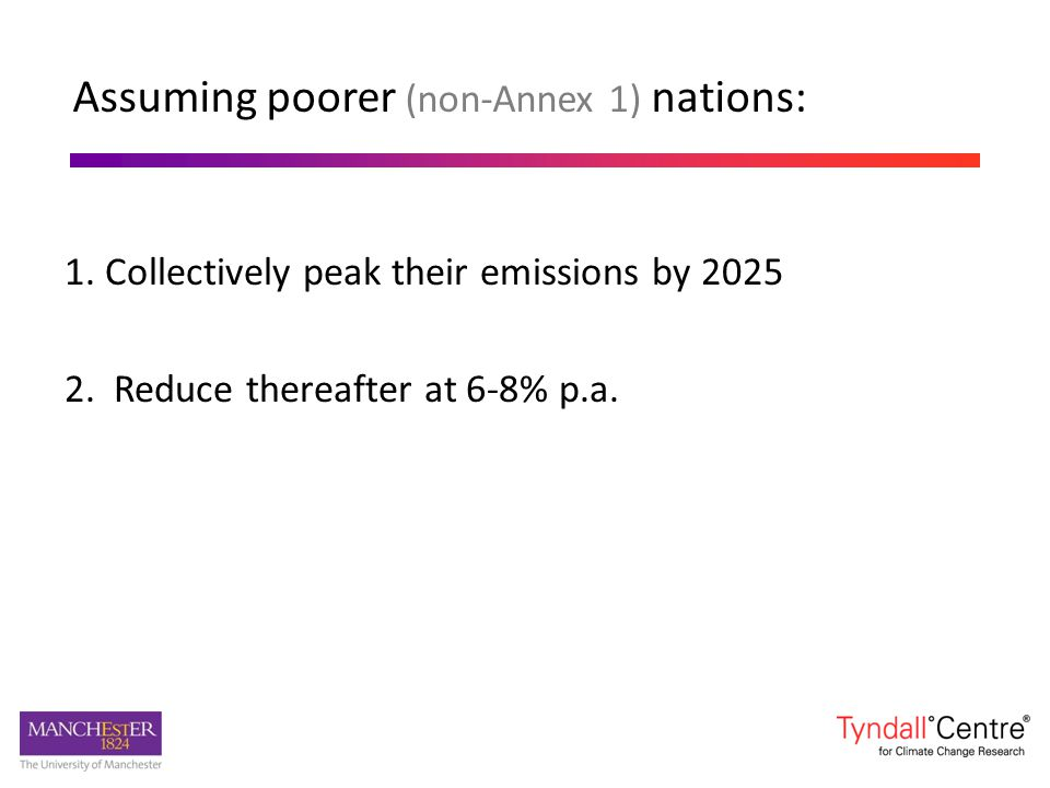 Assuming poorer (non-Annex 1) nations: