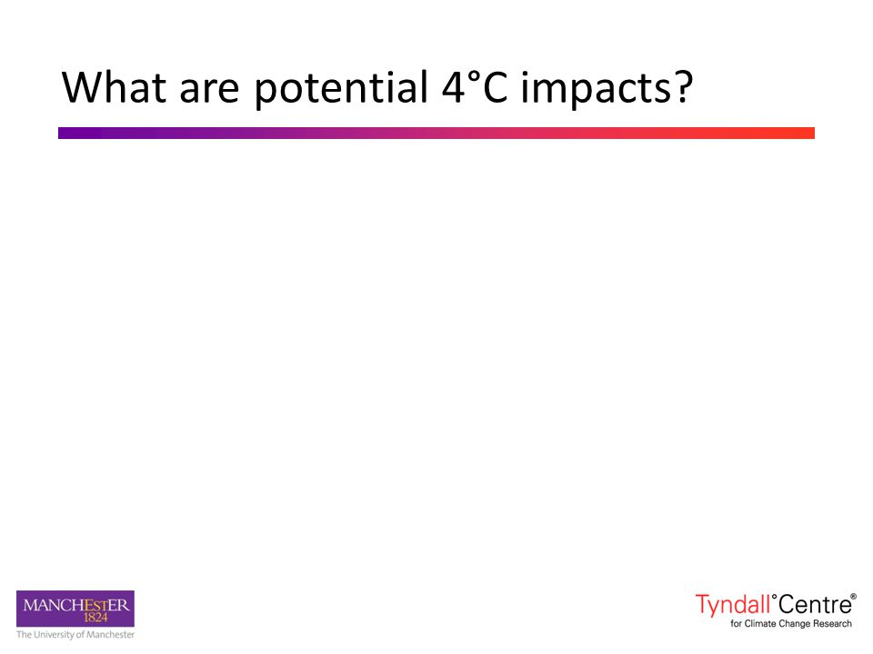 What are potential 4°C impacts