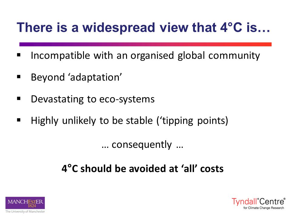 There is a widespread view that 4°C is…