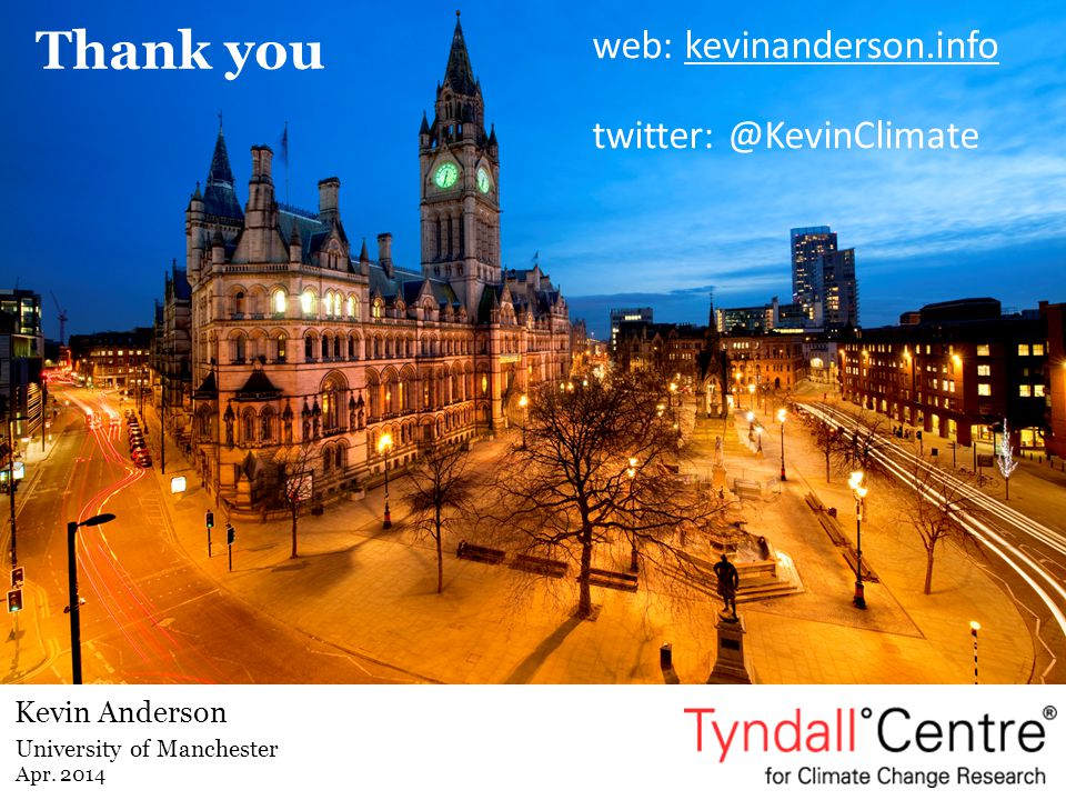 Thank you web: kevinanderson.info twitter: @KevinClimate