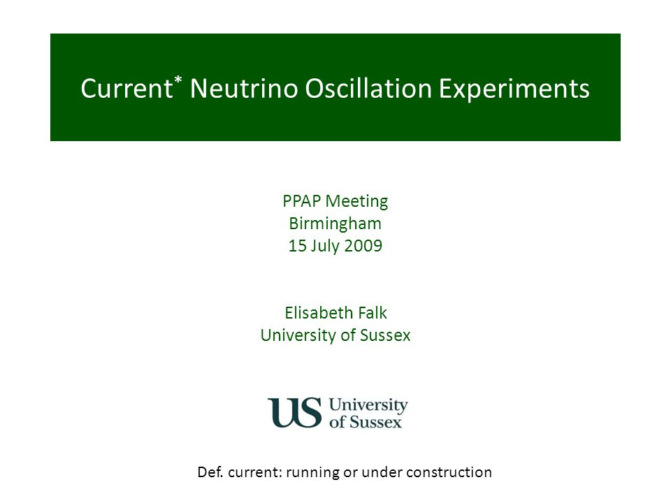 Current* Neutrino Oscillation Experiments