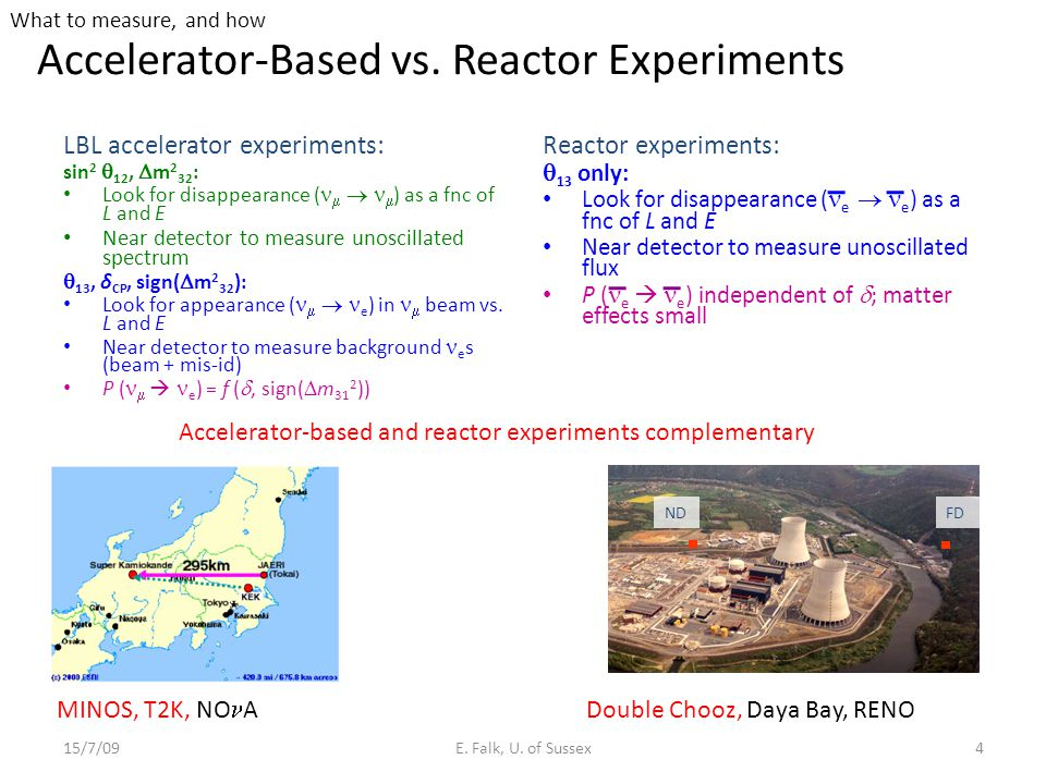 Accelerator-Based vs. Reactor Experiments