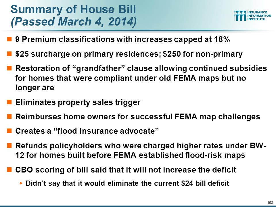Summary of House Bill (Passed March 4, 2014)