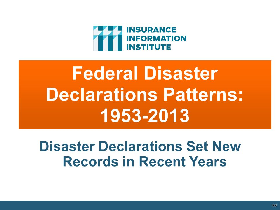 Federal Disaster Declarations Patterns: 1953-2013