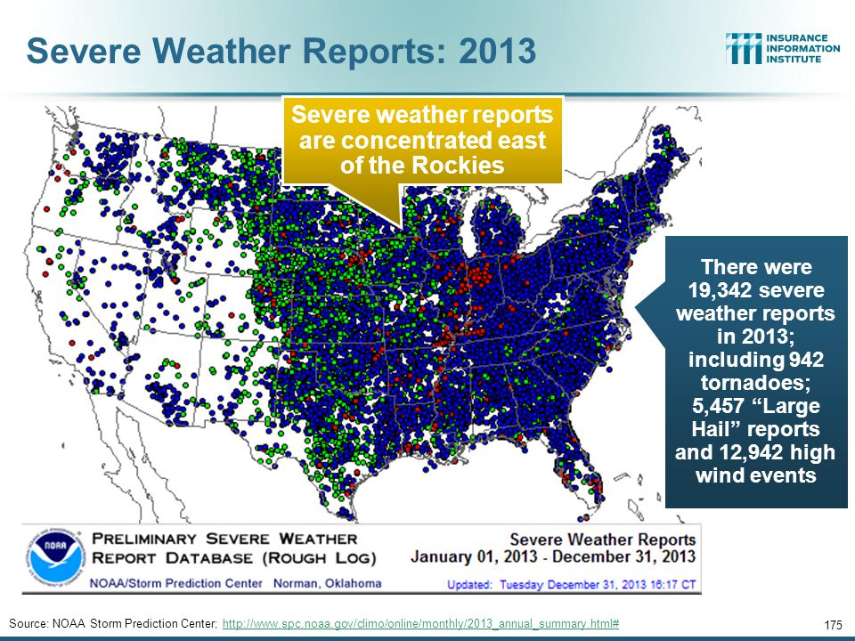 Severe Weather Reports: 2013