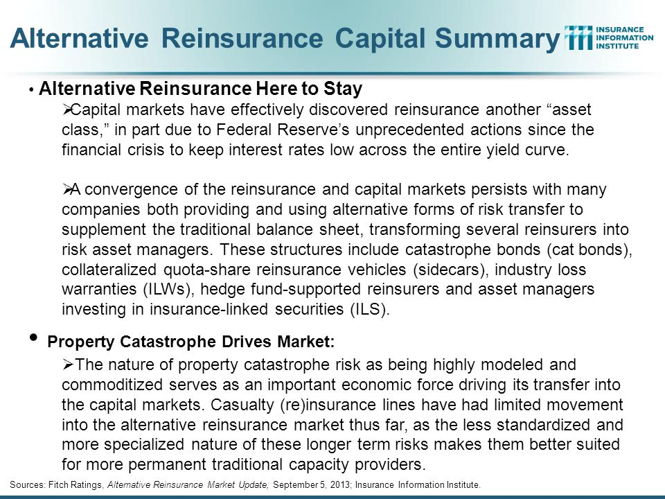 Alternative Reinsurance Capital Summary