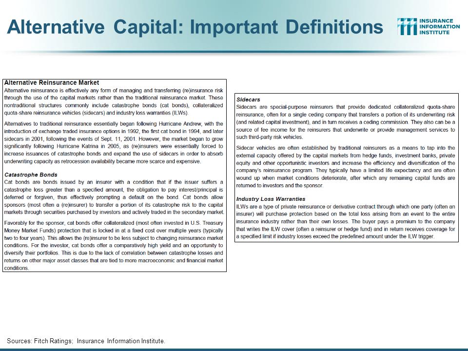 Alternative Capital: Important Definitions