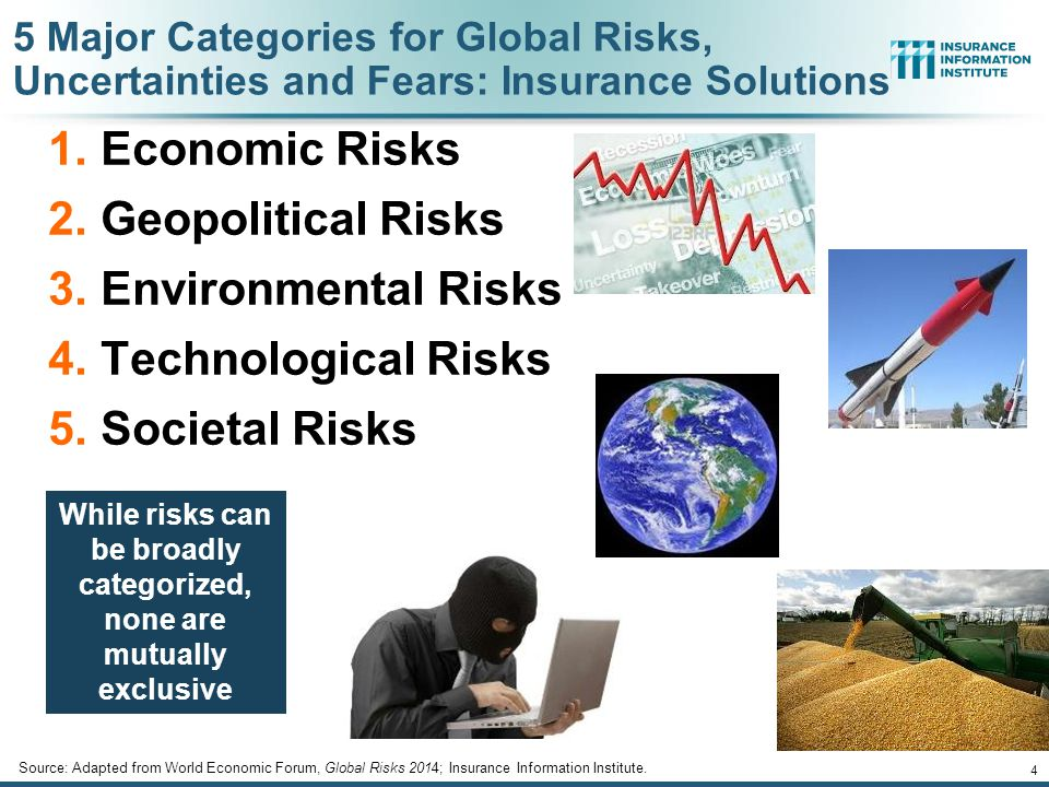 While risks can be broadly categorized, none are mutually exclusive