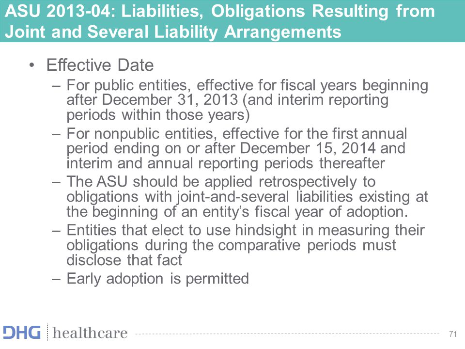 ASU 2013-04: Liabilities, Obligations Resulting from Joint and Several Liability Arrangements