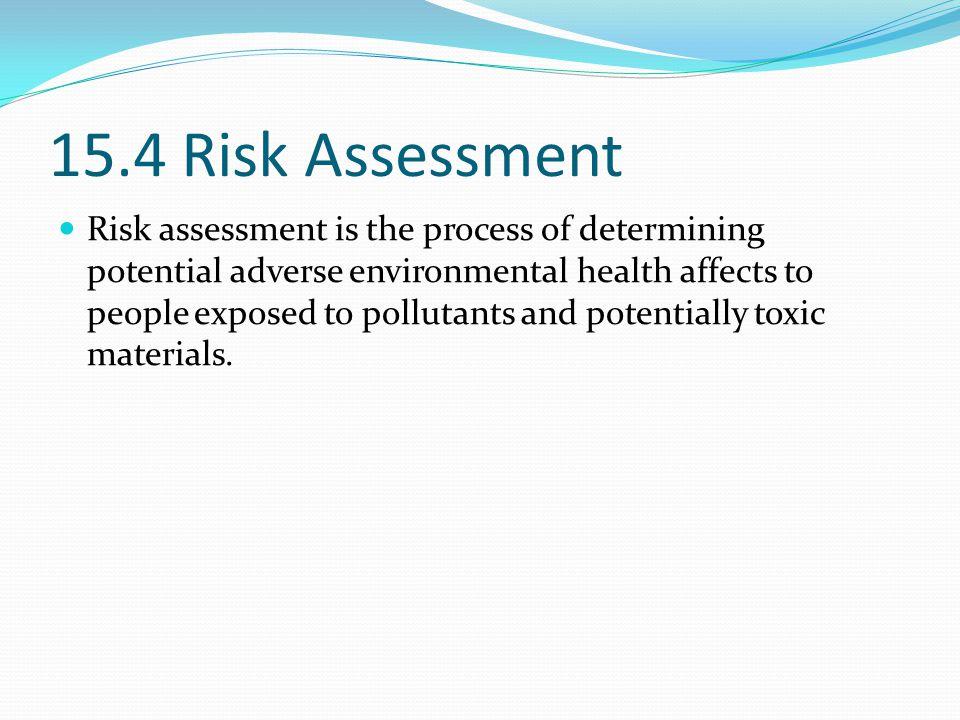 15.4 Risk Assessment