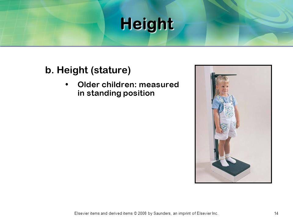 Height b. Height (stature)